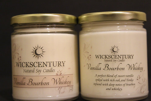 Vanilla Bourbon Whiskey-9 oz Classic Soy Candles