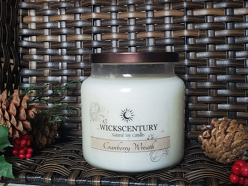 Cranberry Wreath-20 oz Platform Soy Candles