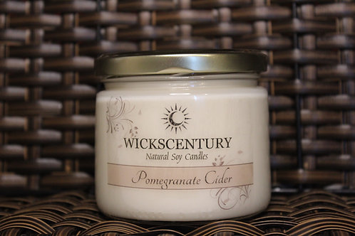 Pomegranate Cider- 12 oz Classic Soy Candles