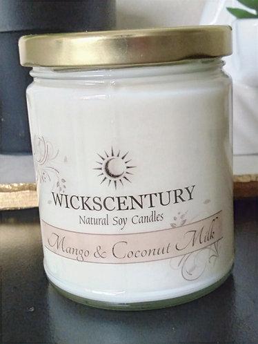 Mango & Coconut Milk-9 oz Classic Soy Candles