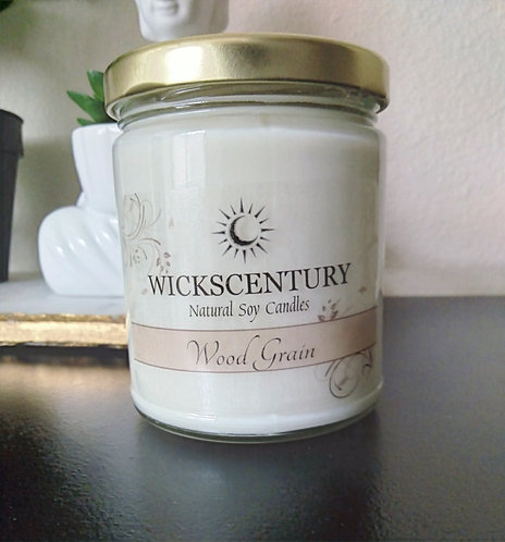 Wood Grain- 9 oz Soy Candles