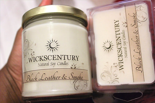 Black Leather & Smoke-9 oz Classic Soy Candles