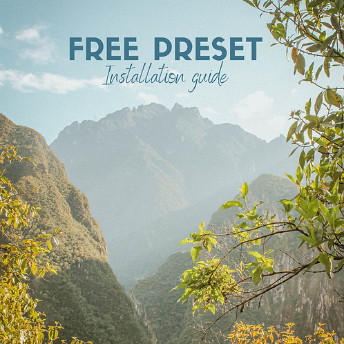 FREE PRESET INSTALLATION GUIDE