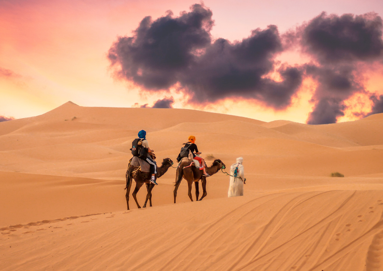 Riding in the Sahara Desert, Morocco