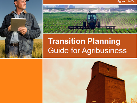 Transition Planning Guide for Agribusinesses now available