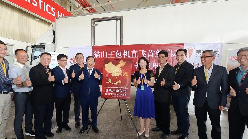 价值200万人民币 带壳猫山王 启航飞中国
