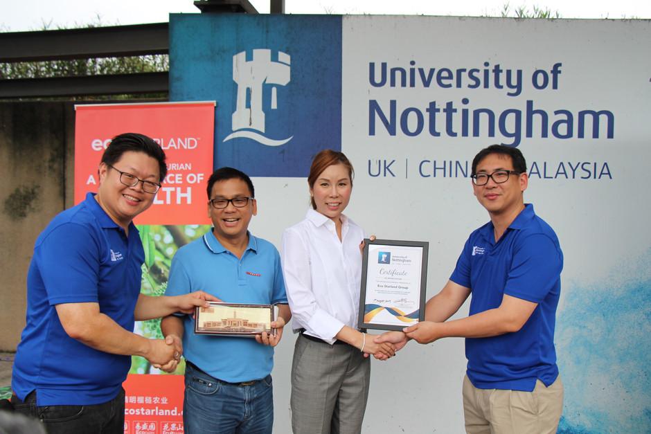 University Nottingham of Malaysia Durian Event 易盛协力诺丁汉 产学合作第一弹