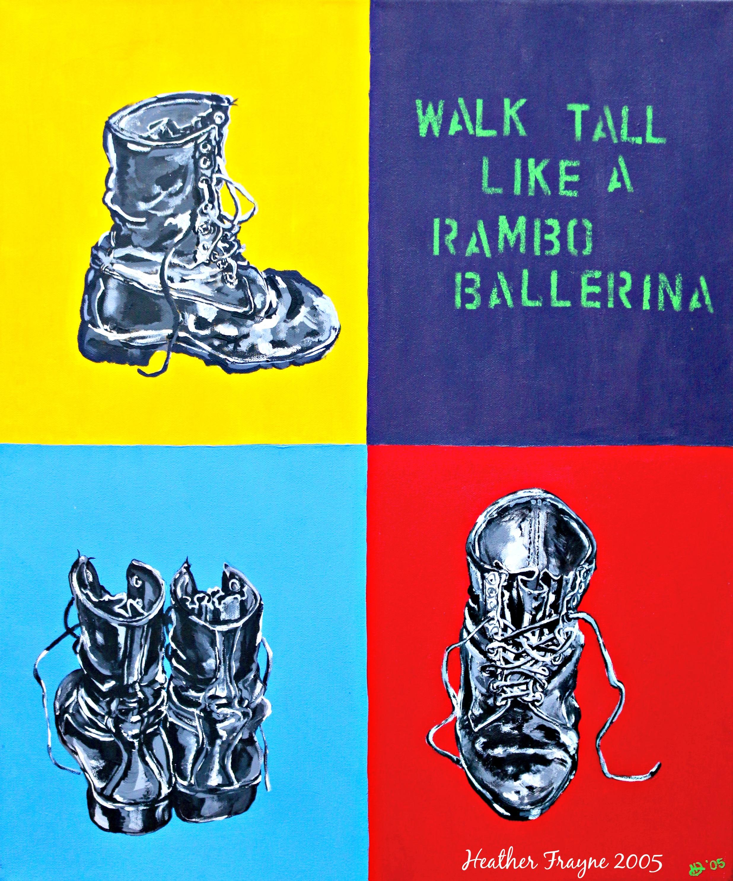 Rambo Ballerina postcard