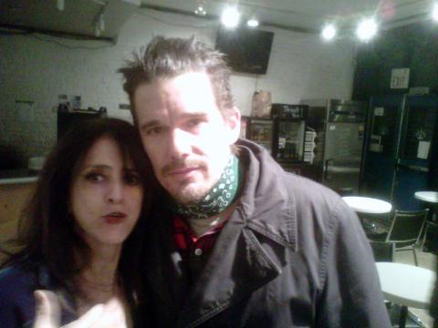 Judy with Ethan Hawke
