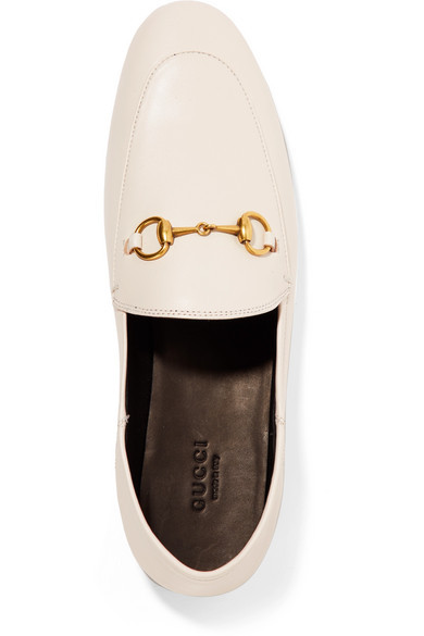 757ad2159 GUCCI Brixton horsebit-detailed leather collapsible-heel loafers