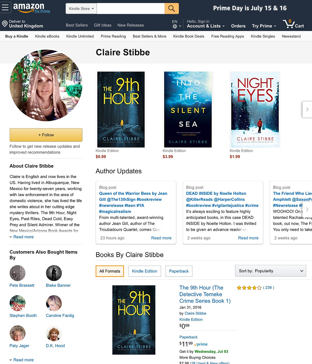 Don't forget to complete and update your author profile on Amazon