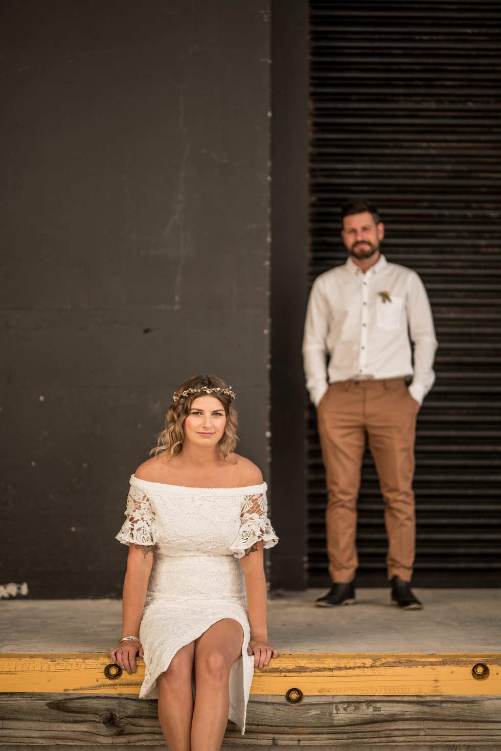 Hailey and Tom's backyard lepperton taranaki wedding