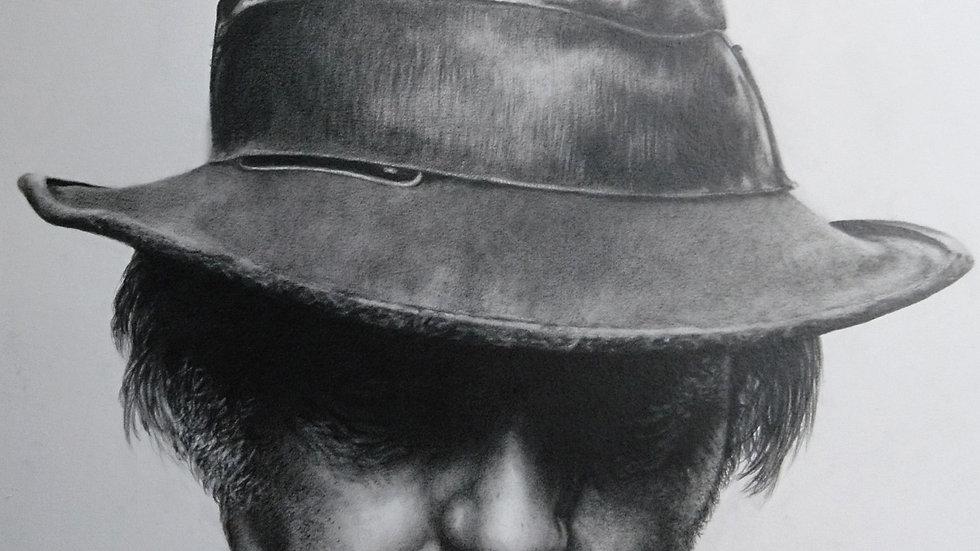 Original Drawing - Neil Young