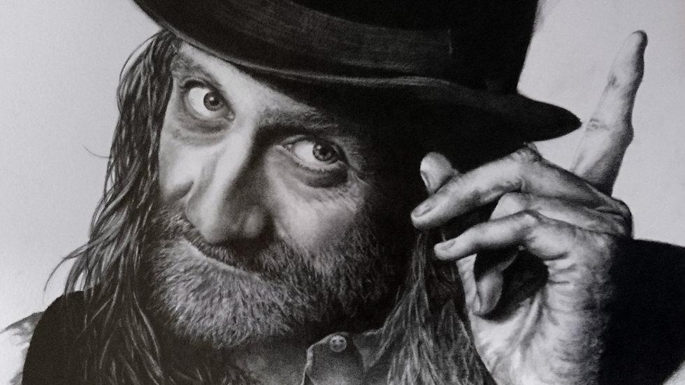 Original Drawing -Portrait of a Young Mick Fleetwood