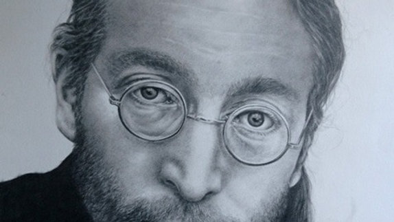 Original Drawing - Portrait of John Lennon