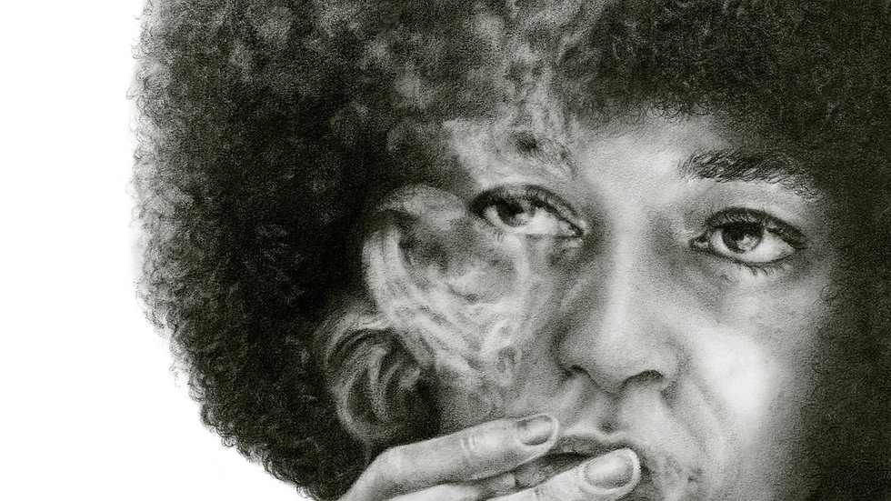 Original Drawing - Portrait of Angela Davis