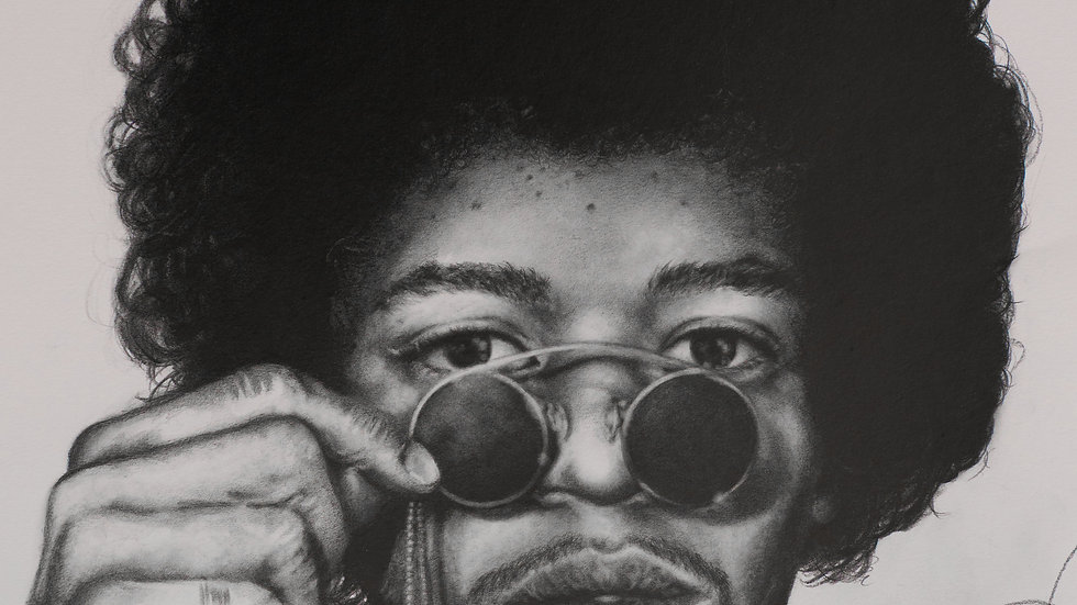 Original Drawing - Jimi Hendrix