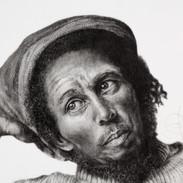Portrait of Bob Marley