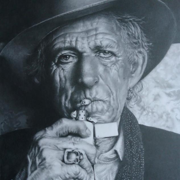 Portrait of Keith Richards