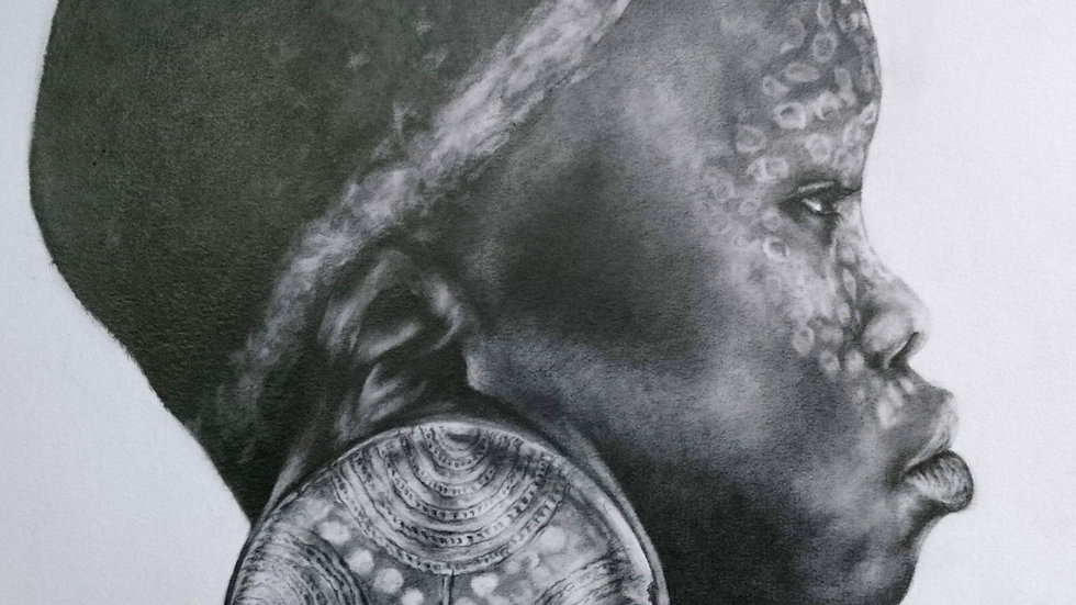 Tribal - Original Fine Art Drawing