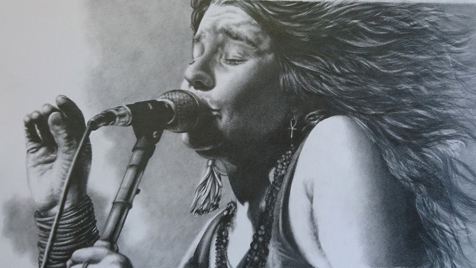 Original Drawing - Janis Joplin