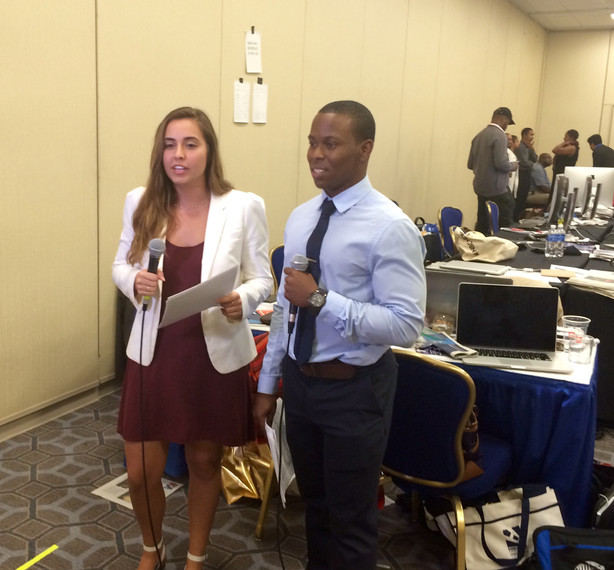 My Student Project babies doing live update from NABJ NAHJ newsroom