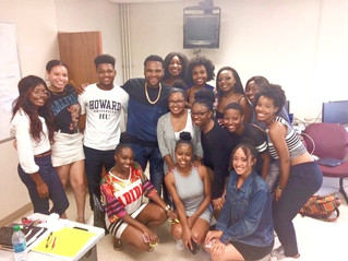 Anthony Anderson and son visit capstone class