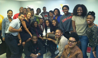WSB Anchor Jovita Moore with my Clark Atlanta Univ Class