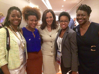2016 DNC in Philly with US Senator Kamala Harris