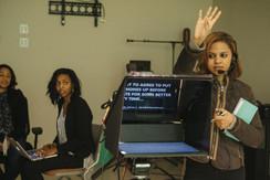 Ellyce Ferguson NewsVision rehearsal