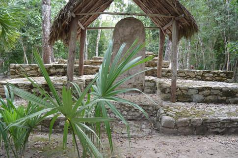 Stela Garden in Coba Temple