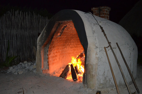 Temazcal fire