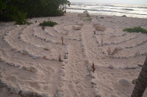 The beach labyrinth