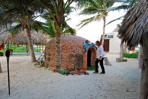 Preparing Temazcal ceremony