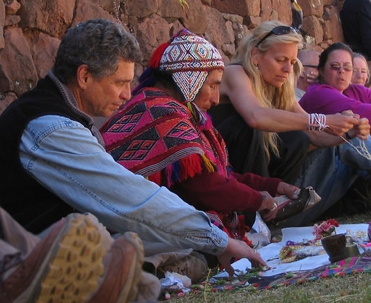 Andean despacho ceremony