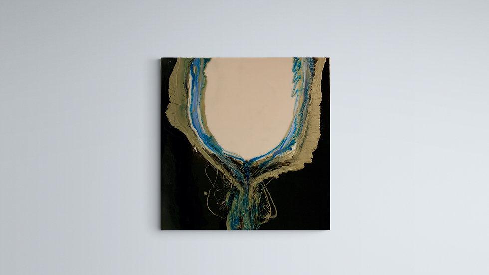 """Cascade"" Resin on Canvas 70cm by 70cm"