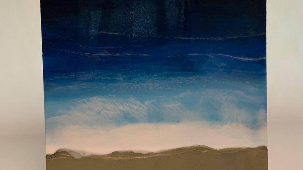 """Ocean"" Resin on Canvas 70cm by 70cm"