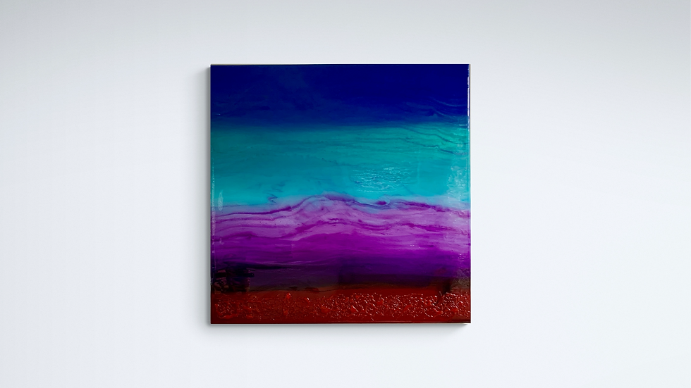 """""""Beneath the Mexican Sky"""" 70cm by 70cm resin on canvas"""