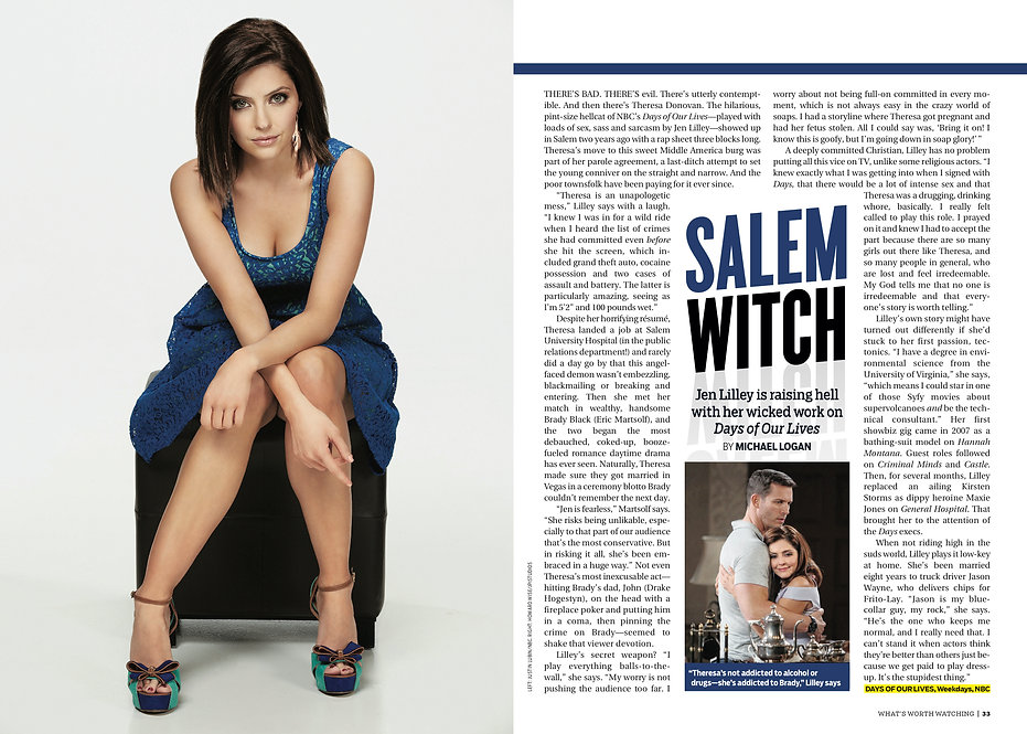 Jen Lilley TV Guide featured performer