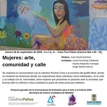 Mujeres: arte, comunidad y calle, Conversatorio, Juan David Quintero.