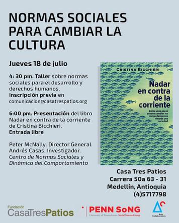 Taller, Peter McNally y Andrés Casas:  Normas Sociales para Cambiar la Cultura