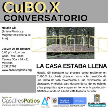 Conversatorio:  Residente del CuBO.X Natalia Gil