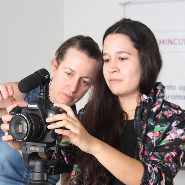 Filmación de los artistas de CuBO.X