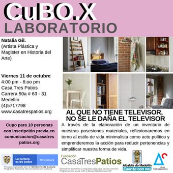 CuBO.X: 1er conversatorio de Natalia Gil, residente local.