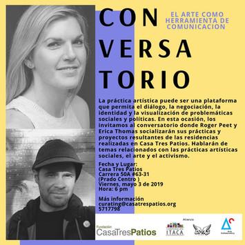 Conversatorio, EL ARTE COMO HERRAMIENTA DE COMUNICACIÓN.