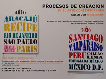 Taller con el artista Jorge Marín: procesos de creación en el arte contemporáneo