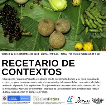 Recetario de Contextos, Luis Fernando Peñuela