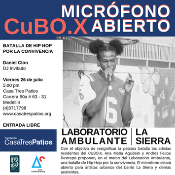 CuBO.X, Ana María Agudelo y Andrés Felipe Restrepo: Micrófono abierto