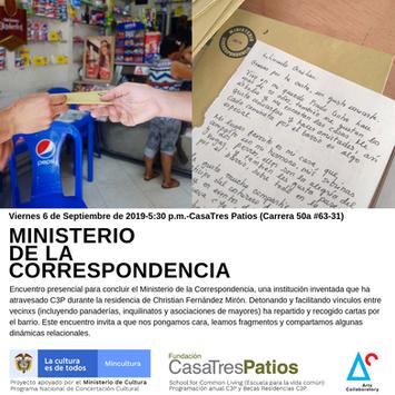 Ministerio de la Correspondencia, con Christian Fernández M.