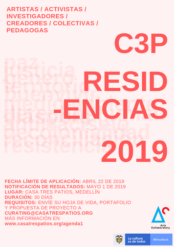 Convocatoria Residencias 2019 en C3P, Open Call - C3P Artist Residencies 2019